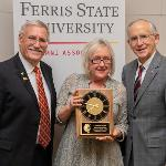 LOCAL BUSINESS OWNER CARLLEEN ROSE WAS NAMED AN HONORARY ALUMNA FOR HER EXTRAORDINARY CONTRIBUTIONS TO FERRIS AND ITS STUDENTS.
