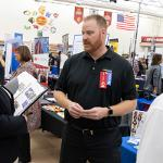 HUNDREDS OF EMPLOYERS WERE ON SITE AT THE CAREER AND INTERNSHIP FAIR.