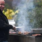 MIACCA CONTRACTOR PHIL FORNER TREATS STUDENTS TO A BARBECUE DINNER.