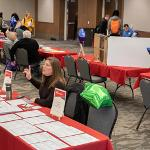 THE STUDY ABROAD FAIR PRESENTED STUDENTS WITH EXCITING OPPORTUNITIES TO CONSIDER DURING THEIR FERRIS EDUCATIONS.
