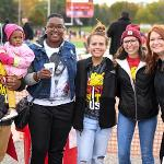 HOUSING AND RESIDENCE LIFE HOSTED A FREE FOOTBALL TAILGATE. . .