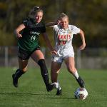THE NATIONALLY RANKED WOMEN'S SOCCER TEAM DEFEATED WISCONSIN-PARKSIDE, 4-1.