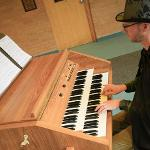 ASSOCIATE PROFESSOR MATT MORESI PLAYED HALLOWEEN-THEMED MUSIC AT THE CARILLON TOWER.