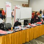 "THE FALL GRAD FAIR OFFERED STUDENTS A ""ONE STOP SHOP"" AHEAD OF DECEMBER COMMENCEMENT."