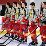 THE BULLDOGS DONNED SPECIAL CAMO JERSEYS. . .