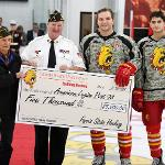 . . .WHICH WERE SOLD TO HOCKEY FANS -- GENERATING A $5,000 GIFT TO THE LOCAL AMERICAN LEGION POST.