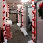 EMPLOYEES IN THE PRAKKEN BUILDING ARE SHOWING THEIR HOLIDAY SPIRIT.