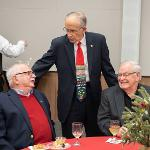 PRESIDENT DAVID EISLER HOSTED THE ANNUAL HOLIDAY RECEPTION AT THE UNIVERSITY CENTER.