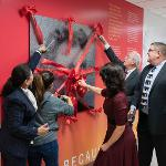 MEMBERS OF THE ADMINISTRATION AND BOARD OF TRUSTEES WERE ON HAND FOR THE UNVEILING.