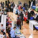 THE SPRING RSO FAIR WAS HELD AT THE STUDENT RECREATION CENTER.