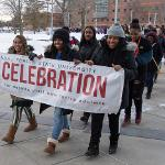 THE 34th ANNUAL MARTIN LUTHER KING JR. FREEDOM MARCH WAS A HIGHLIGHT OF MLK DAY AT FERRIS.