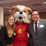 STUDENT GOVERNMENT PRESIDENT ALLY FAULKNER AND BRUTUS WERE PART OF THE FERRIS DELEGATION.