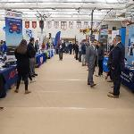 SEVERAL FERRIS ALUMNI WERE AT THE FAIR TO ENCOURAGE STUDENTS TO JOIN THEIR FIRMS AND COMPANIES.