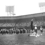 Band at Tiger Stadium in Detroit (Oct. 20, 1963)