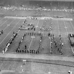 Band at Briggs Stadium in Detroit 1958 Forming Go Lions