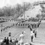 Massed Bands at 1956 Homecoming