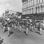 Oct. 8, 1949 Ferris Institute Marching Band at Homecoming Parade