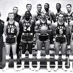 Wink Arena is named after legendary coach Jim Wink (far left)