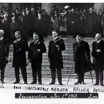 Governor Ferris taking the oath of office on January 1, 1913.