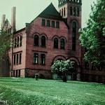 A color photo of Old Main