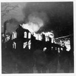 By the time they arrived, Old Main  was completely engulfed in flames.