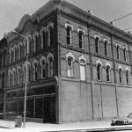Temporary location of school, 1884,  Vandersluis Block, Big Rapids