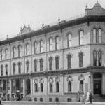 Permanent location of school, 1885-1893,  Northern Bank Block