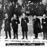 Inauguration as Governor of Michigan, January 1, 1913, Lansing.  Left to right: Ferris, Ross, Martindale, Haarer, Fuller, Fellows, Carton