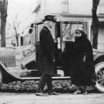 With second wife Mary Ethel McCloud Ferris in front of Big Rapids home Mr. Ferris never drove