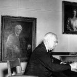 Carleton G. Ferris at President's Table, Ferris Institute, July 23, 1948