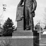 Centennial statue of W. N. Ferris erected September 1983, Ferris State University