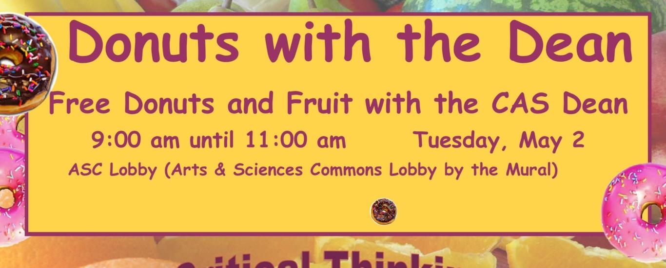 Join Dean Haik for Donuts and Fruit on May 2