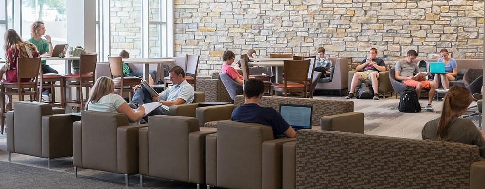 Students study in the University Center.