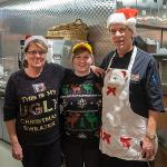 Even our staff shows their Holiday spirit