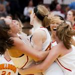 WOMEN'S BASKETBALL IS ON THE REBOUND UNDER FIRST-YEAR HEAD COACH KENDRA FAUSTIN.