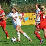 FOURTEEN WINS AND A RUNNER-UP GLIAC FINISH WERE ALL-TIME HIGHS FOR WOMEN'S SOCCER.