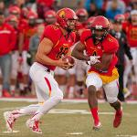 QUARTERBACK JASON VANDER LAAN WON HIS SECOND STRAIGHT HARLON HILL TROPHY AS THE BEST PLAYER IN NCAA DIVISION II.