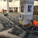 NEW CARPETING WAS INSTALLED AT THE FLITE LIBRARY.
