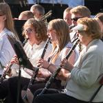 THE FERRIS COMMUNITY SUMMER BAND PERFORMED ITS FIRST OUTDOOR CONCERT OF THE SEASON.