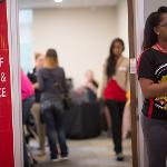 SCENES FROM NEW STUDENT ORIENTATION.