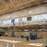 MECHANICAL SYSTEMS ARE BEING UPGRADED IN THE STUDENT REC CENTER.