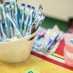 ALL CHILDREN RECEIVED A FREE TOOTHBRUSH.