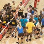 VOLLEYBALL CAMP AT FERRIS IS OPEN TO STUDENTS BETWEEN THE AGES OF 10 AND 18.