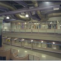 walkways across open atrium