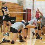 BULLDOG VOLLEYBALL OPENED FALL CAMP IN PREPARATION FOR THE UPCOMING SEASON.