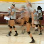 SCENES FROM VOLLEYBALL CAMP.