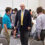 PHARMACY DEAN STEPHEN DURST ATTENDED THE WELCOME EVENT FOR NEW FACULTY.