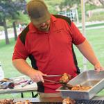 THE FOUNDERS' DAY EMPLOYEE PICNIC WAS HELD ON THE CAMPUS QUAD.