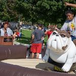 THE CAMPUS QUAD WAS BUSTLING WITH ACTIVITIES AND ENTERTAINMENT DURING FOUNDERS' DAY.