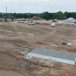 A NEW EAST CAMPUS VARSITY SOCCER FIELD AND FOOTBALL PRACTICE FIELDS ARE BEGINNING TO TAKE SHAPE.